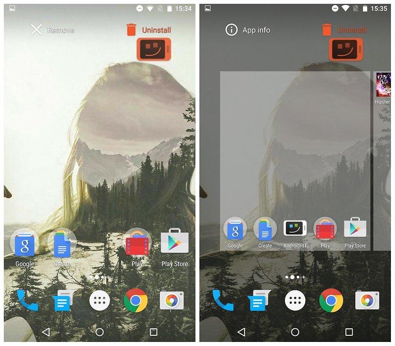 Dezinstalează aplicațiile direct de pe home screen