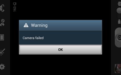 camera failend